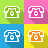 Telephone icons set great for any use. Vector EPS10. Stock Photography