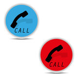Telephone icons on white background  Royalty Free Stock Photos