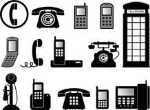 Telephone illustrations Royalty Free Stock Image