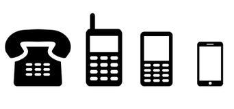 Telephone illustrations Royalty Free Stock Image