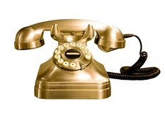 Telephone isolated Stock Images