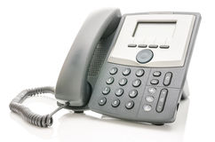 Telephone isolated over white Royalty Free Stock Photography