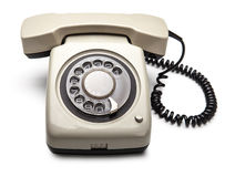 Telephone. Isolated over white background Royalty Free Stock Photo