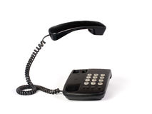 Telephone isolated on white Royalty Free Stock Photography