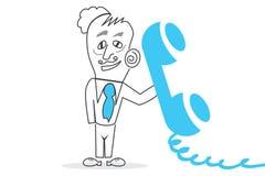 Telephone. Job of explaining the world, human work Royalty Free Stock Image