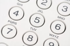 Telephone keyboard Royalty Free Stock Images