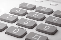 Telephone keyboard. Close up of telephone keyboard Royalty Free Stock Image