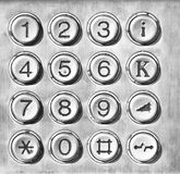 Telephone keypad Stock Images
