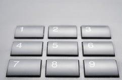 Telephone keypad. Close up of a black telephone keypad Royalty Free Stock Photography