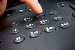 Telephone keypad Royalty Free Stock Images