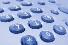 Telephone keypad. Macro of telephone keypad, business background Royalty Free Stock Images