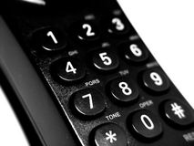 Telephone Keypad. Taken closeup with abstract look Royalty Free Stock Photography