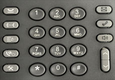 Telephone keypad Stock Image