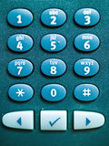 Telephone Keypad Macro Royalty Free Stock Photos