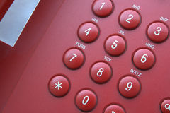 Telephone keypad. Keypad of an office telephone, closeup Royalty Free Stock Images