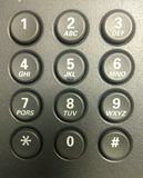Telephone keypad. Office telephone keypad showing numbers and letters 0-9 Royalty Free Stock Photography