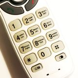 Telephone keypad with round buttons. White color Royalty Free Stock Photos