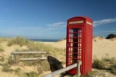 Telephone kiosk near Studland Bay Stock Photography