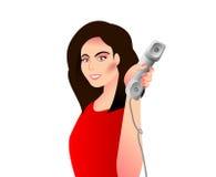telephone kvinnan vektor illustrationer