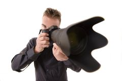 Telephone Lens Royalty Free Stock Image