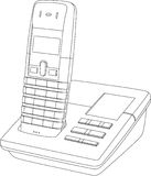 Telephone Line Drawing Royalty Free Stock Images
