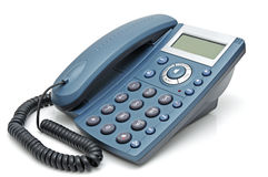 Telephone with liquid-crystal display Stock Photography