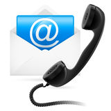 Telephone mail. Illustration for design on white background Stock Photos
