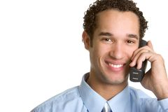 Telephone Man Stock Photo