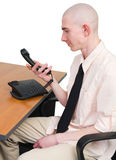 Telephone and man Royalty Free Stock Images