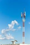 Telephone mast on Blue sky Royalty Free Stock Image
