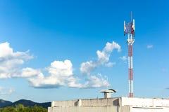 Telephone mast on Blue sky Royalty Free Stock Images