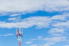 Telephone mast on Blue sky Royalty Free Stock Photography