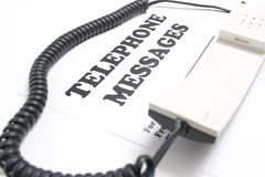 Telephone messages Royalty Free Stock Images