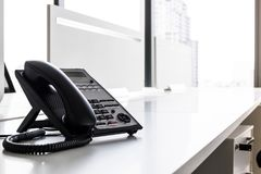 A telephone in the modern office. stock photography