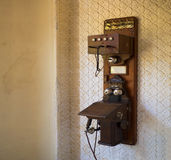 Telephone in Monserrate Palace is an exotic palatial villa and gardenlocated in Sintra, Portugal, Stock Photo