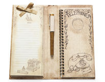 Telephone notebook Royalty Free Stock Image