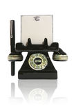Telephone with Notepad and Pen Royalty Free Stock Photos