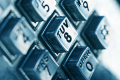 Telephone numbers. Close up image of telephone numbers on a telephone Royalty Free Stock Photography