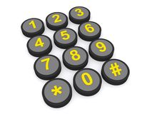 Telephone numbers keypad Stock Images