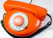Telephone old. Ringing, talking, obsolete, technology Stock Photo