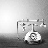 Telephone old black and white Royalty Free Stock Images