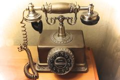 Telephone old fashion and antique Stock Photos
