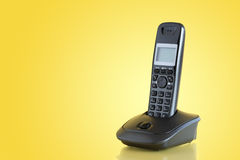 Telephone On Yellow Royalty Free Stock Photography