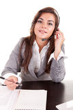 Telephone operador Stock Photo