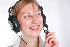 Telephone operator Royalty Free Stock Photo