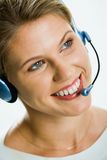 Telephone operator Stock Photo