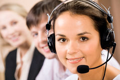 Telephone operator Royalty Free Stock Photos