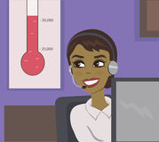 Telephone operator goal Stock Photo