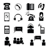 Telephone and operator icons Stock Image