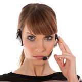 A telephone operator isolated Royalty Free Stock Images